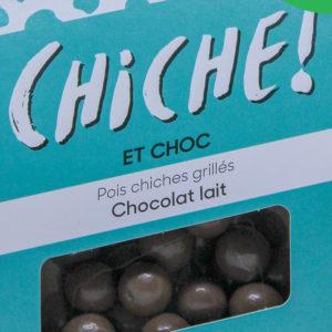 Pois chiche pour l'apéritif à croquer les légumineuses gout chocolat au lait bio