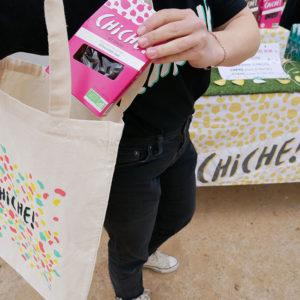 tote bag Goodies CHICHE Pois chiche pour l'apéritif BIO