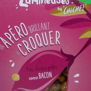 Pois chiche pour l'apéritif à croquer les légumineuses gout bacon bio