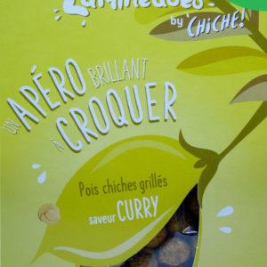 Pois chiche pour l'apéritif à croquer les légumineuses gout curry bio